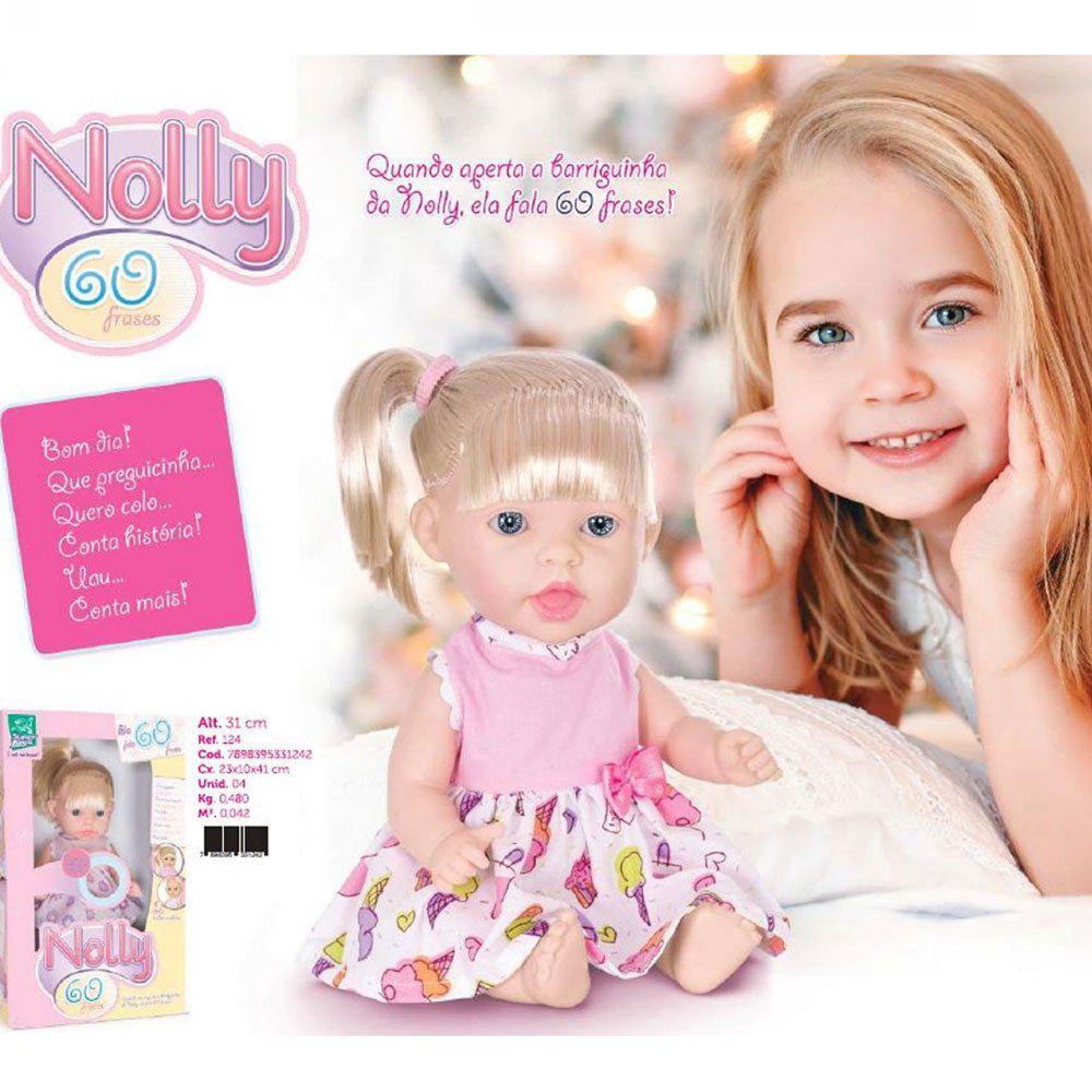 Boneca Nolly 60 Frases - Super Toys