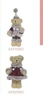 Boneco Urso Natalino em pé - D&A
