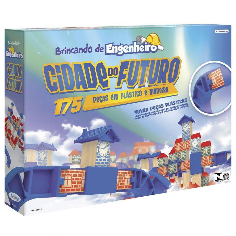 Brincando de Engenheiro Cidade Do Futuro 175 Peças - Xalingo Brinquedos