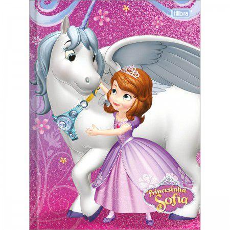 Caderno Brochura Pequeno 48 folhas Princesinha Sofia - Tilibra