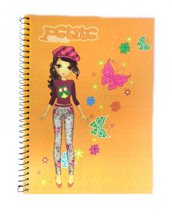 Caderno Pequeno Espiral 48 folhas  Petite Girl - PanAmericana