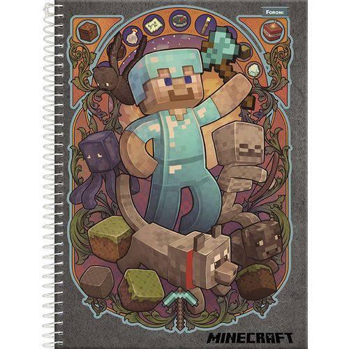 Caderno Espiral Pequeno 96 folhas Minecraft - Foroni