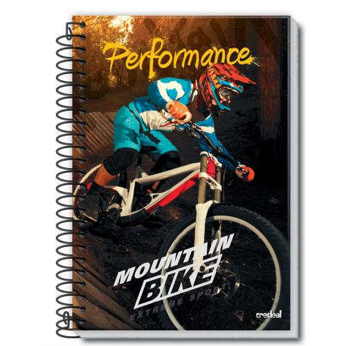 Caderno Espiral Pequeno 96 folhas Performance - Credeal