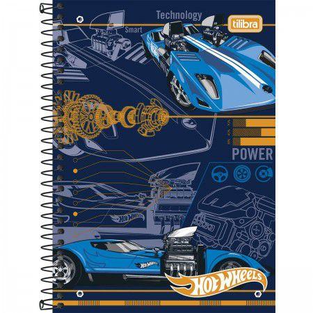 Caderno espiral Pequeno 96 folhas Hot Wheels - Tilibra