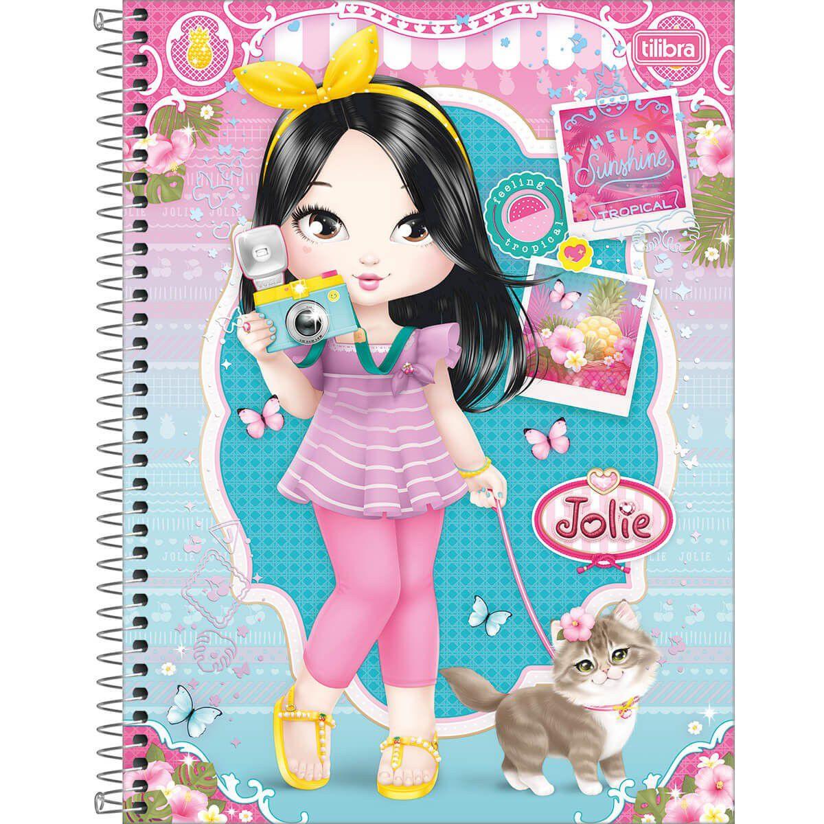 Caderno Espiral Jolie - Tilibra