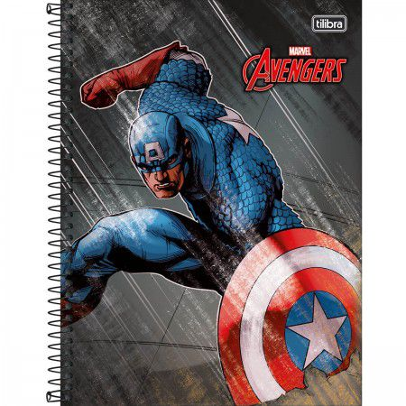 Caderno Espiral Universitário Avengers - Tilibra
