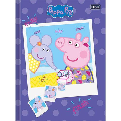 Caderno Peppa Pig Brochura 1/4 Costurado 40 Folhas