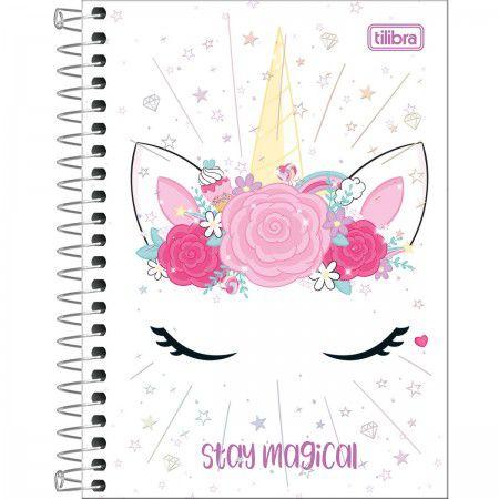 Caderno Espiral Pequeno 80 folhas Unicórnio  - Tilibra