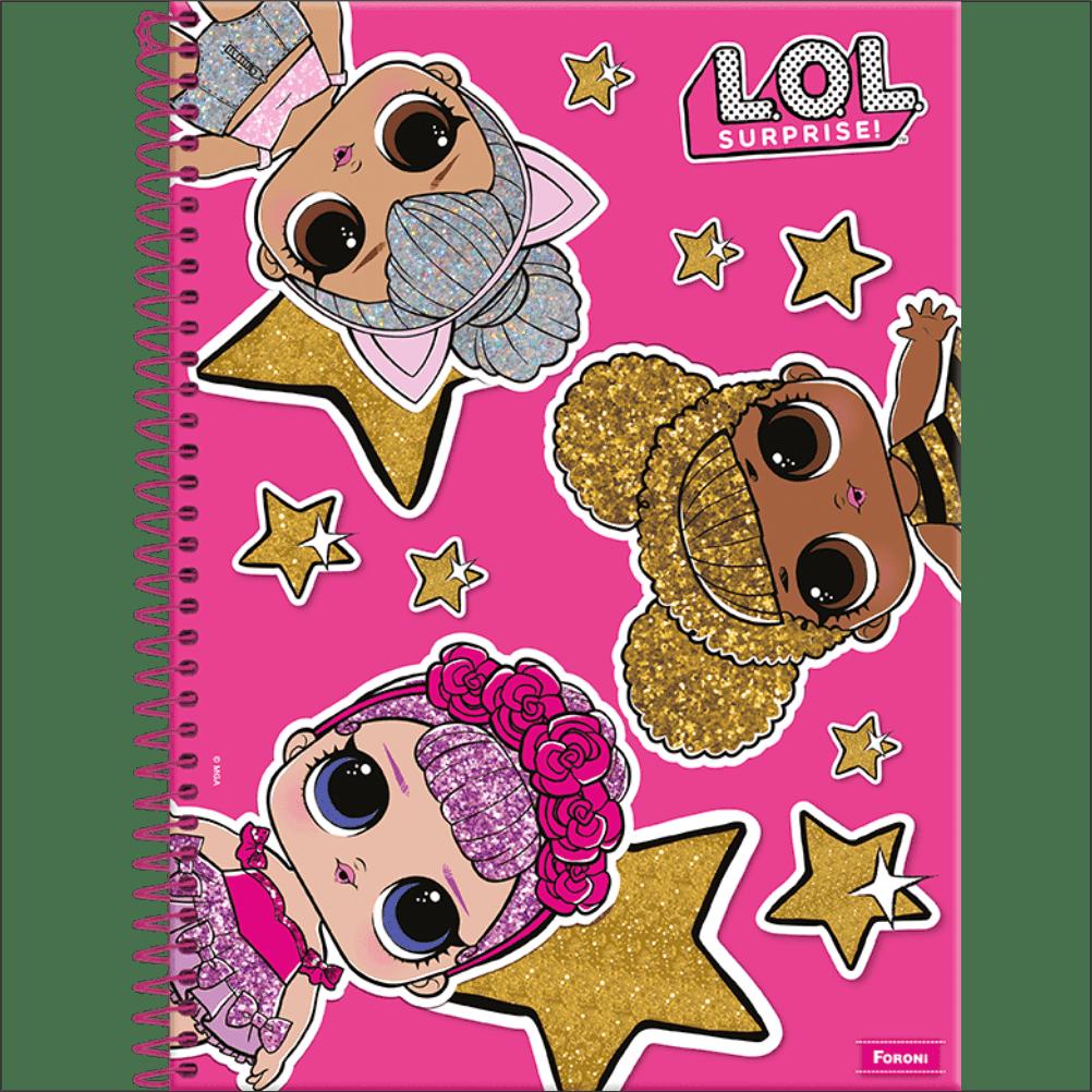 Caderno Universitário L.O.L. Suprise - Foroni