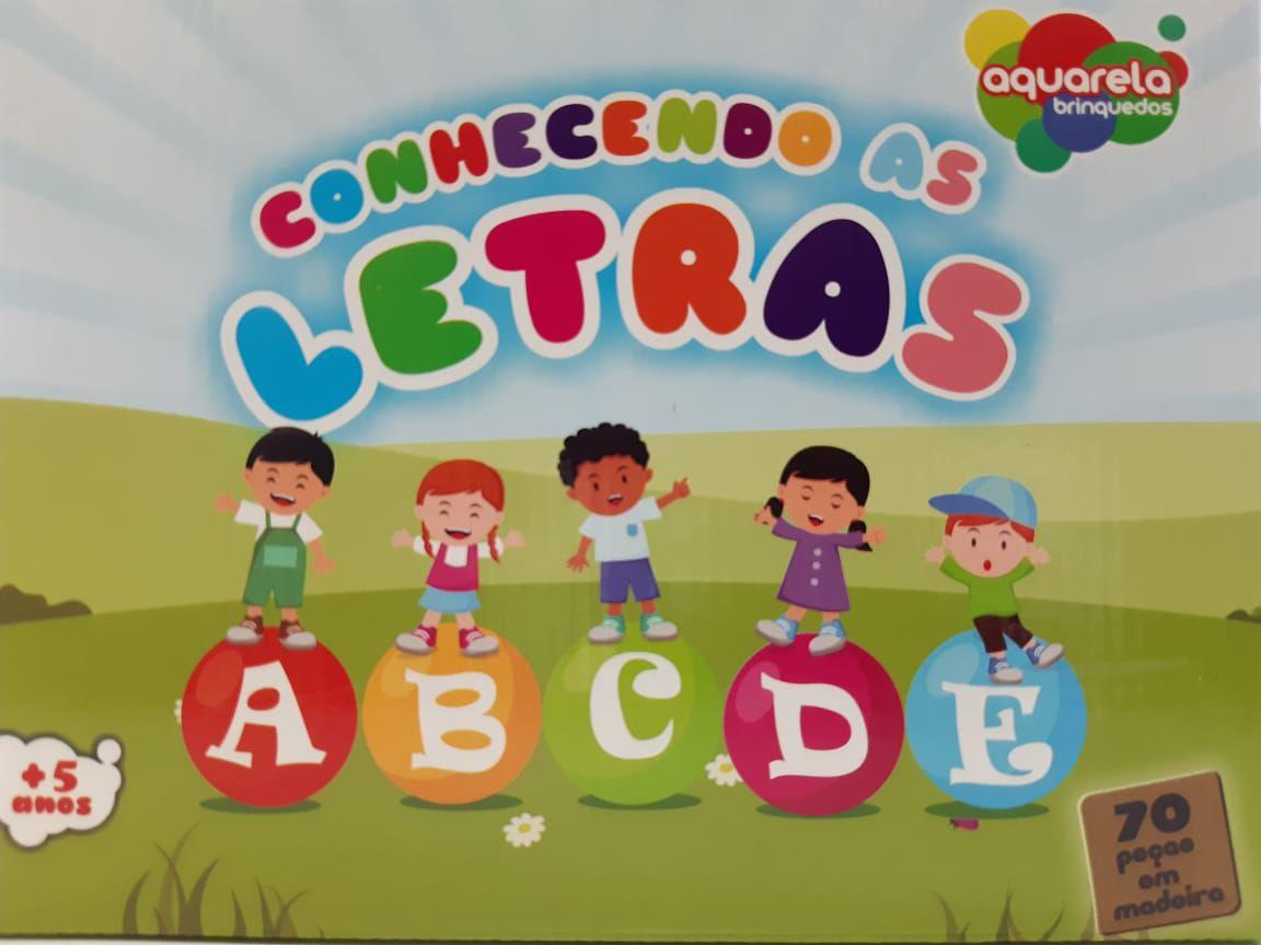 Conhecendo As Letras - 70 peças Aquarela Brinquedos