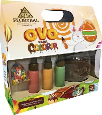 Chocolate Florybal - Cx Ovo Para Colorir 280g