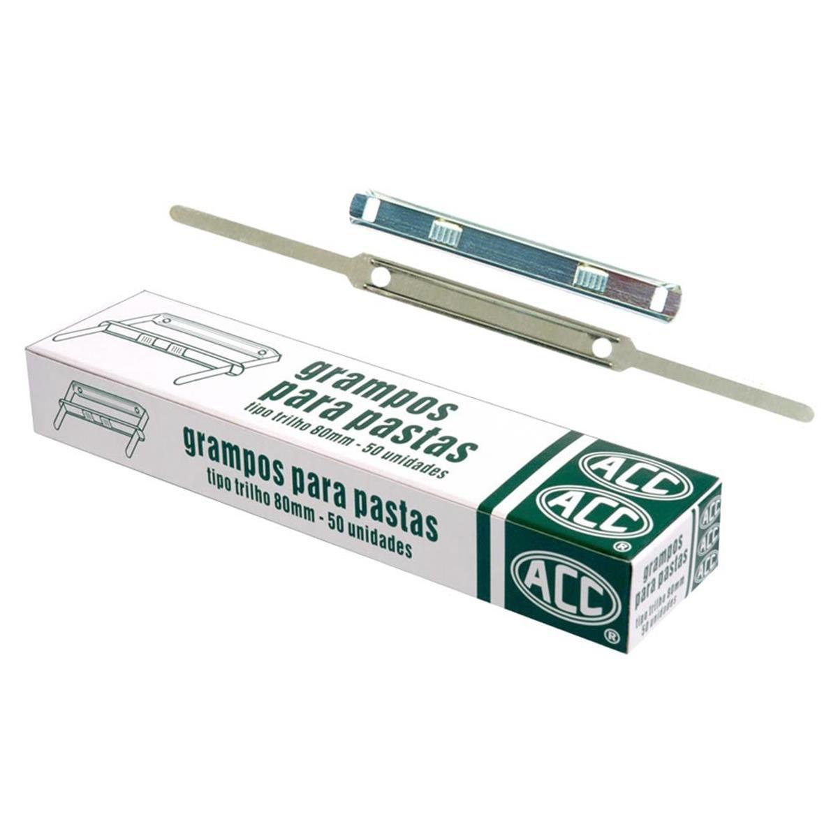 Grampos Para Pastas 80 mm 50 unidades - ACC