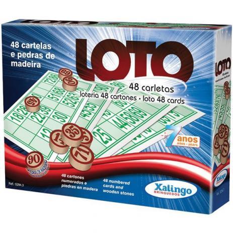 Jogo Loto 48 Cartões - Xalingo Brinquedos