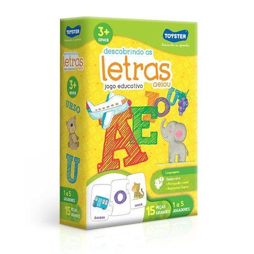 Jogo Pedagógico - Descobrindo as Letras - Toyster