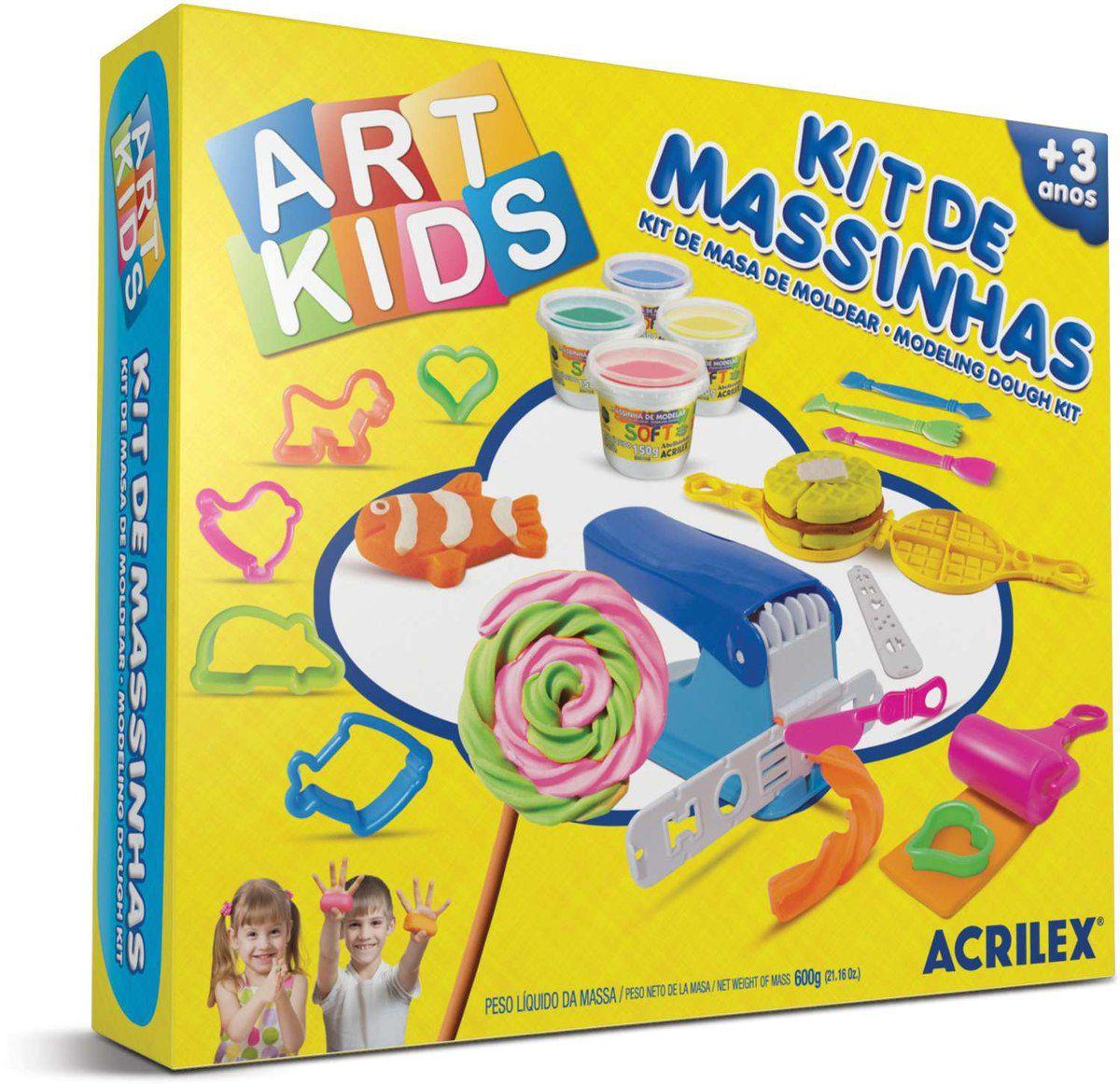 Kit De Massinhas Criativa - Art Kids Acrilex
