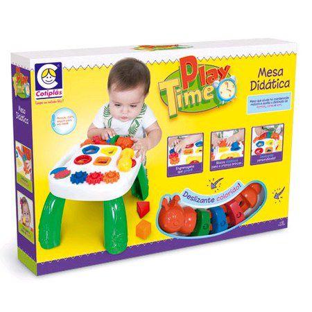 Mesa De Atividades Didática Infantil Play Time - Cotiplás
