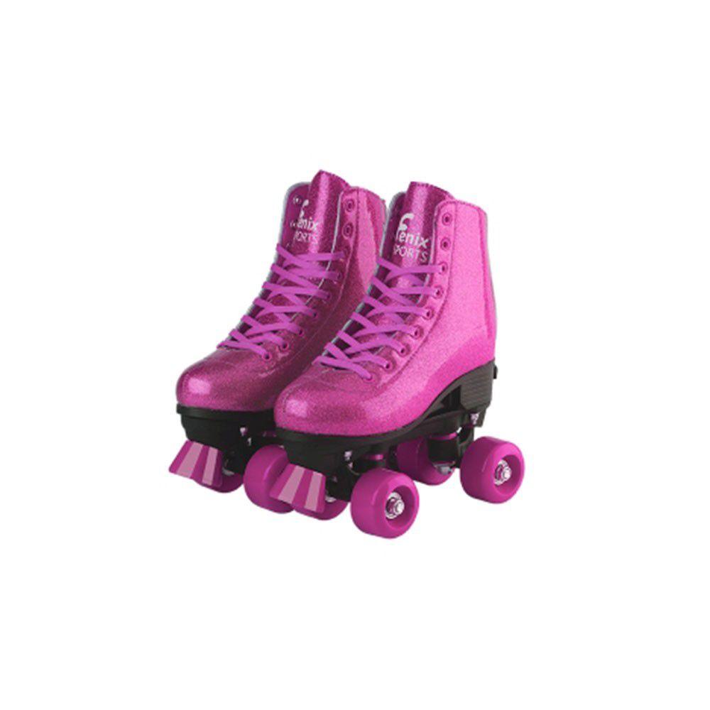 Patins 4 Rodas Ajustável Roller Skate - Fenix