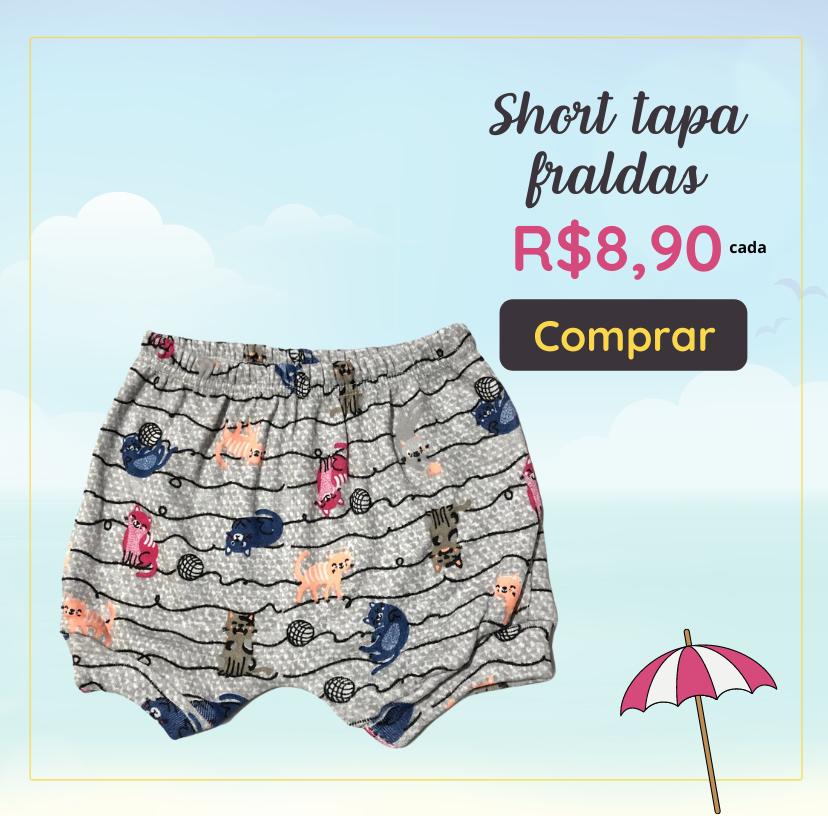 short tapa fraldas