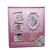 Álbum de Fotos de Bebê Rosa - Molduras - Wincy Casa