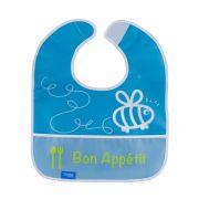 Babador Impermeável Plus com bolso Azul - Comtac Kids