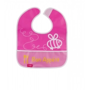 Babador Impermeável Plus com bolso Rosa - Comtac Kids