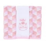 Babetes Paninhos de Boca Gato Rosa - Baby Gijo