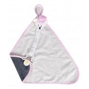 Blanket Naninha Atoalhado Urso Jeans Rosa - Zip Toys