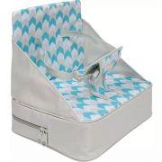 Cadeira de Alimentação Portátil Chevron Turquesa - Buba Baby