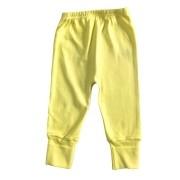 Calça para bebê com pé reversível Suedine - Amarela