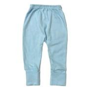 Calça para bebê com pé reversível Suedine - Azul claro