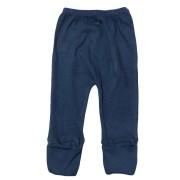 Calça para bebê com pé reversível Suedine - Azul Marinho