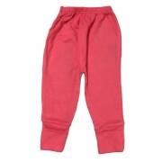 Calça para bebê com pé reversível Suedine - Coral