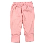 Calça para bebê com pé reversível Suedine - Rosa claro