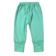 Calça para bebê com pé reversível Suedine - Verde