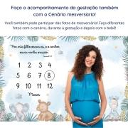 Cenário Acompanhamento Gestação e Mesversário Bebê Safari