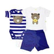 Conj. Camiseta Body e Shorts Ursinho - Best Club