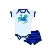Conjunto Body Bebê e Shorts Dino - Baby Duck