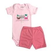 Conjunto Body Bebê e Shorts Praia - Baby Duck
