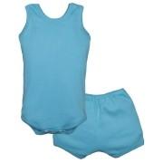 Conjunto Body Bebê Regatinha e Shorts Azul - Baby Duck