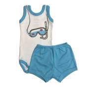 Conjunto Body Bebê Regatinha e Shorts Snorkel - Baby Duck