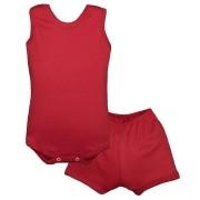 Conjunto Body Bebê Regatinha e Shorts Vermelho - Baby Duck