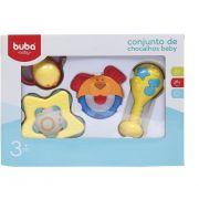 Conjunto Chocalhos Cachorrinho Baby - Buba Baby