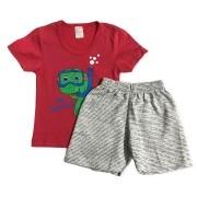 Conjunto Infantil Camiseta Malha e Bermudinha Tartaruga - ClubB