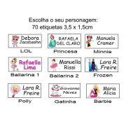 Etiqueta Para Uniforme Termocolante Personagens Menina - Baby