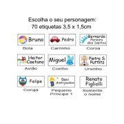 Etiqueta Vinil Escolar Personalizada Menino - Baby