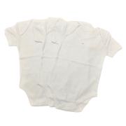 Kit 3 Body Manga Curta Branco  - Baby