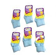 Kit 6 Pares de Meias Infantis - Azul - Pimpolho (tamanho 16 a 20)