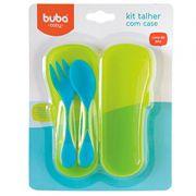 Kit Talheres Azul com Case - Buba Baby