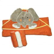 kit Toalha com Capuz e Toalhinhas de Boca Elefante - Zip Toys