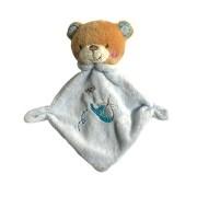 Mini Blanket de Bebê Urso Azul - Zip Toys